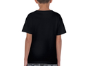 Debian embroidered swirl youth t-shirt (black)