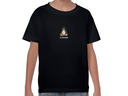 Linux embroidered youth t-shirt (black)