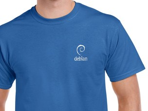 Debian (type 2) T-Shirt (blue)