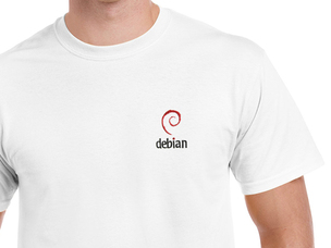 Debian (type 2) T-Shirt (white)