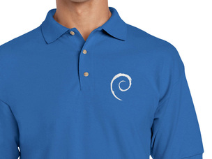 Debian Swirl Polo Shirt (blue)