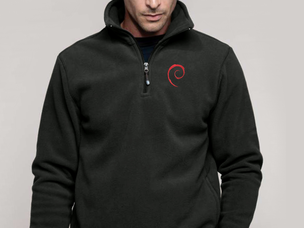 Debian Swirl pullover jacket (dark grey)