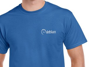 Debian T-Shirt (blue)