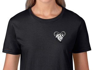 GNU Women's T-Shirt (black)