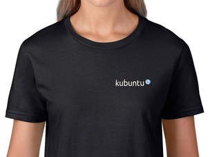 Kubuntu Women's T-Shirt (black)