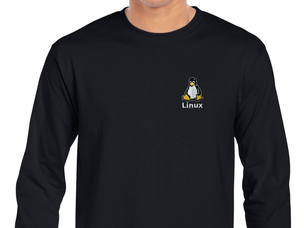 Linux Long Sleeve T-Shirt (black)