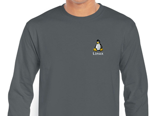 Linux Long Sleeve T-Shirt (grey)