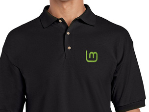 Linux Mint 2 Polo Shirt (black)