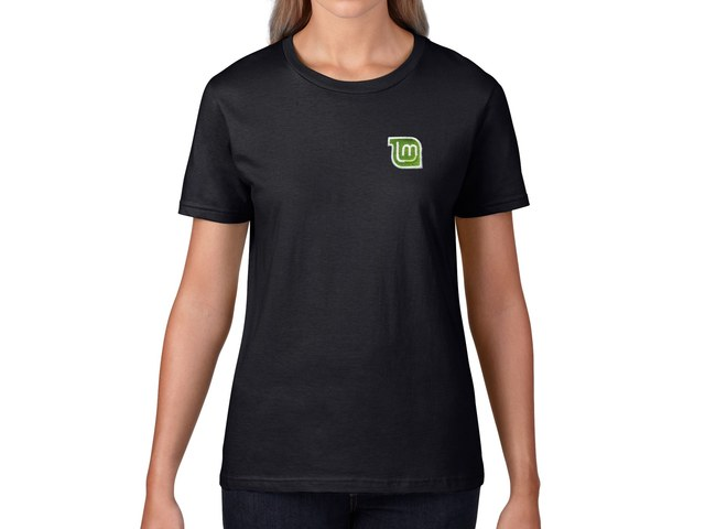 Linux Mint Women's T-Shirt (black)