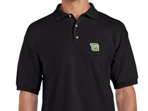 Black Piqué Polo Shirt