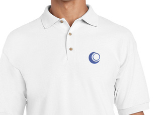 OpenMandriva Polo Shirt (white)