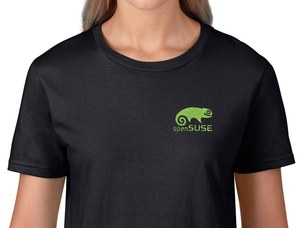 openSUSE Women's T-Shirt (black)