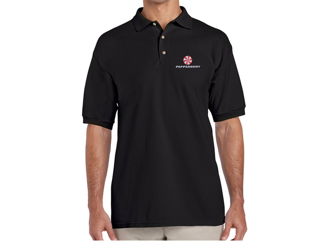 Peppermint Polo Shirt (black)