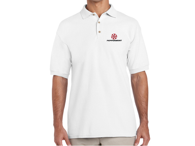 Peppermint Polo Shirt (white)