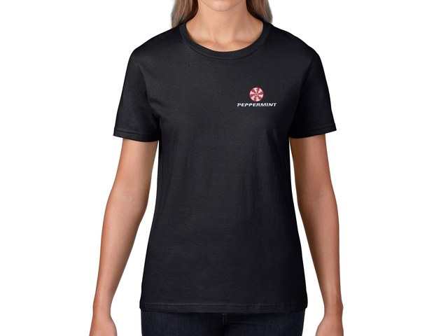 Peppermint Women's T-Shirt (black)
