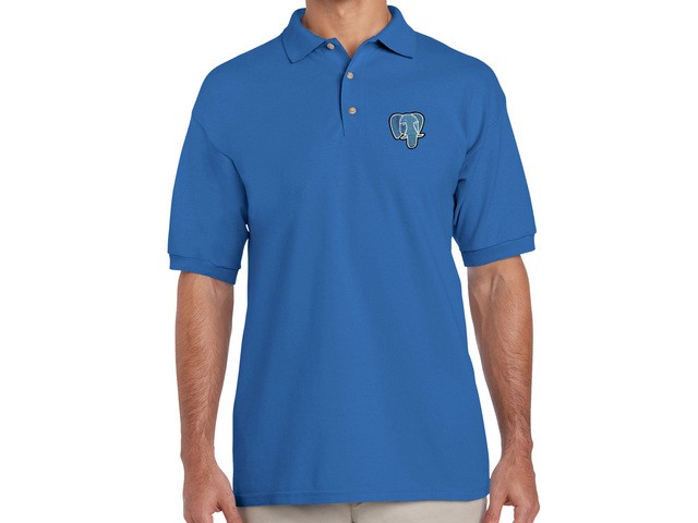 PostgreSQL Polo Shirt (blue)