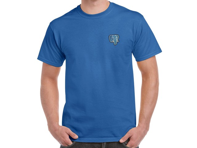 PostgreSQL T-Shirt (blue)