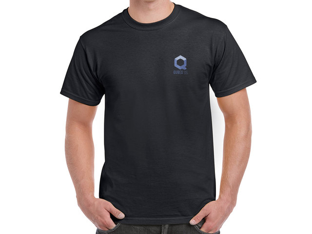 Qubes OS T-Shirt (black)
