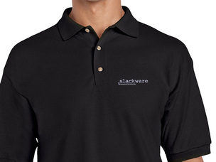 Slackware Polo Shirt (black)