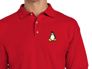 Tux Polo Shirt (red)