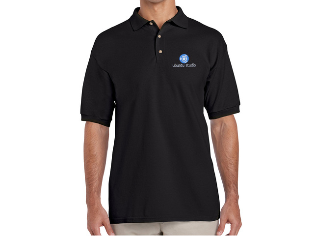 Ubuntu Studio Polo Shirt (black)