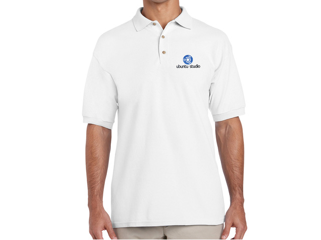 Ubuntu Studio Polo Shirt (white)