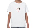 Debian embroidered swirl youth t-shirt (white)