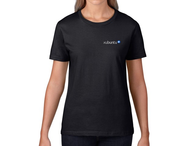 Xubuntu Women's T-Shirt (black) - HELLOTUX - Embroidered Linux t ...